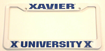 (Xavier University License Plate Frame Plastic)