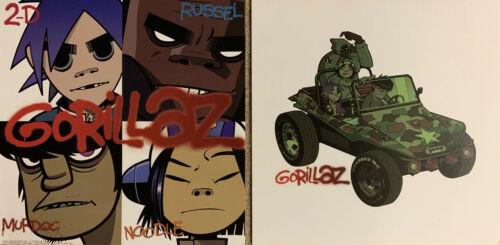 Gorillaz promo double sided poster/flat 19/2000 Clint Eastwood 2-D Jamie Hewlett