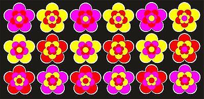 18 Stück ca. 5 cm Retro Retrostyle Blumen Blume Aufkleber AN1539