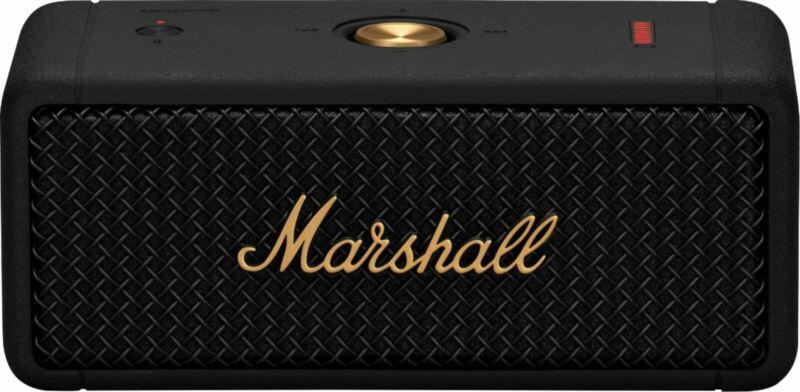 Marshall Emberton Portable Bluetooth Speaker - Black & Brass Sealed US IN STOCK