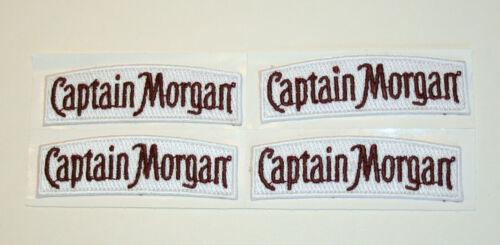 4 Captain Morgan Rum Distillery Small Advertising Cloth Patch New NOS