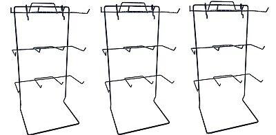 Counter Top Display Rack W 12 Single Peg Hook In Black - Count Of 3