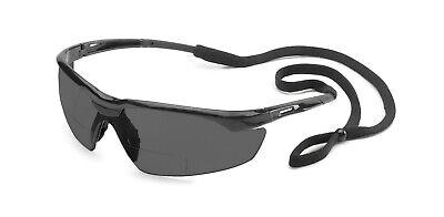 Gateway Conqueror 1.5 Smokegray Bifocal Reader Safety Glasses W Cord Z87 Sun