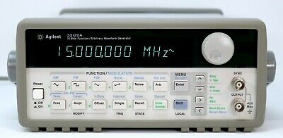 Hp Agilent 33120a 15 Mhz Function Arbitrary Waveform Generator. Very Clean
