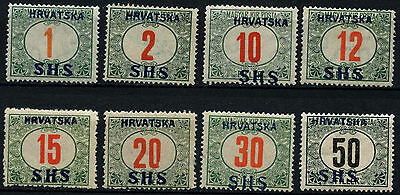 Yugoslavia 1918 SG#D85-92 Postage Dues Optd SHS MH Set #D52295