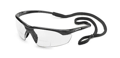 Gateway Conqueror 1.0 Clear Bifocal Reader Safety Glasses Magnifier W Cord Z87+