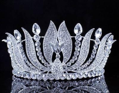 Phoenix Clear Austrian Crystal Rhinestone Tiara With Hair Combs Crown Prom T15