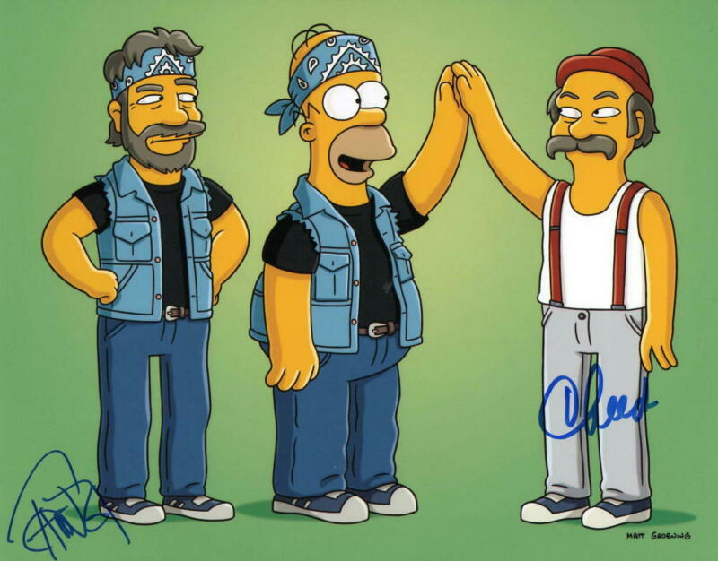 TOMMY CHONG CHEECH MARIN SIGNED 8X10 PHOTO AUTHENTIC AUTOGRAPH THE SIMPSONS COA