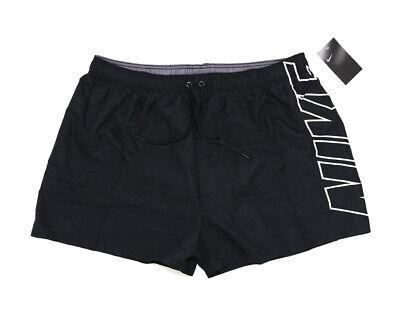 NIKE Herren Bermuda Shorts mit Logo Print schwarz Badehose Swim Short Größe XXXL
