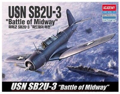 Academy 1/48 #12324 USN SB2U-3 Battle of Midway With Free Shipping + Free Gifts