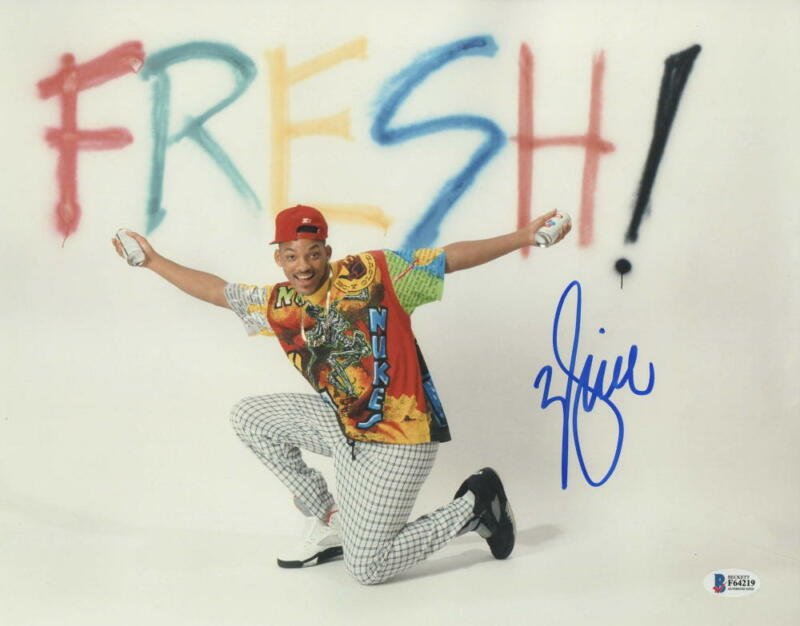 WILL SMITH SIGNED 11X14 PHOTO FRESH PRINCE OF BEL-AIR AUTOGRAPH BECKETT COA