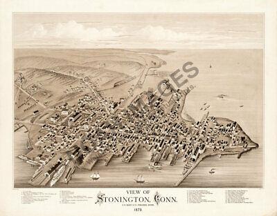 - Stonington Connecticut c1879 panoramic map repro 24x20
