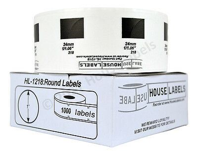 1 Dk 1218 Round Labels 1 Replacement Roll Compatible W Brother