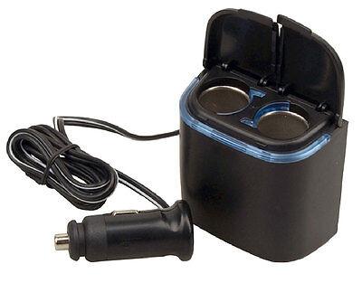 Plug In Car 1 TO 2 Cigarette Lighter Multiplier