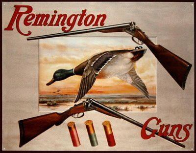 Remington Shotguns Duck Hunting Tin Sign 13 x 16in