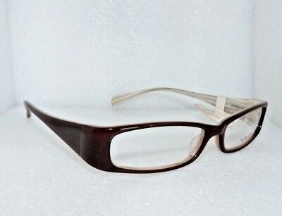 NEW VIVID 738 37 EYEGLASSES GLASSES FRAMES 54-15-135 TOFFEE / CREAM WOMEN'S