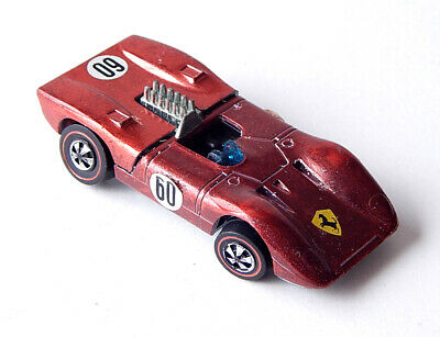 1969 Hot Wheels Ferrari 312P Redline Car Red Vintage