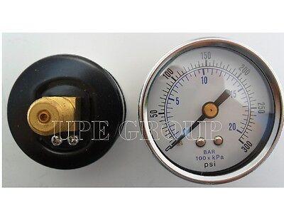 New Air Pressure Gauge Air Compressor Hydraulic 2 Face 0-300 Back Mnt 14 Npt