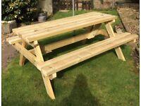 Handmade Heavy Duty Wooden 6 Seater Garden Bench
