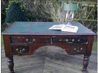 Vintage retro antique wooden mid century shabby chic office work desk w drawers