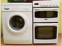 Package Deal £260 Ceramic Top Cooker & Washing Machine, 6 Months Warranty
