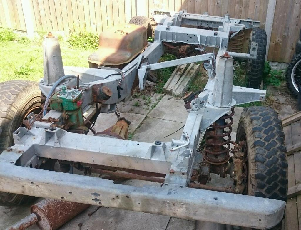 Land Rover Defender 90 Tdi Galvanised Rolling Chassis In