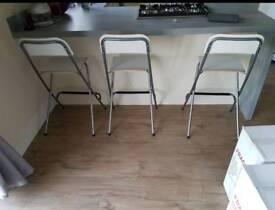 3 franklin bar stools - ikea