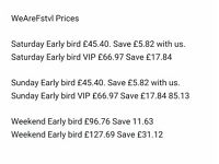WE ARE FSTVL TICKETS (Cheaper than anywhere else)