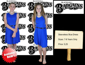 Sleeveless Blue Dress 7-8 Years