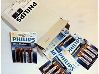 BOX OF 12 PACKETS OF 4 * PHILIPS ULTRA AA ALKALINE** BB DATE 06-2019** GOOD BATTERIES