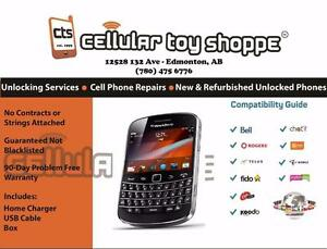 Blackberry Bold 9900 Black Unlocked for all carriers except Freedom (30 Day Warranty) - RENEWED