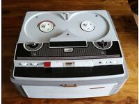 STELLAPHONE ST459 REEL TO REEL TAPE RECORDER PLAYER WITH TAPES
