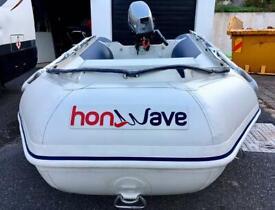 HONWAVE 2.7M INFLATABLE DINGHY 6HP MARINER