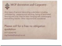 mgf decorating and carpentry