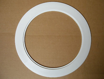 """6"""" INCH RECESSED CEILING CAN LIGHT OVER SIZE PLASTIC TRIM RING WHITE"""