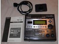 Roland V DRUMS TD-12 module 9 VEX packs mount manual electronic drum brain