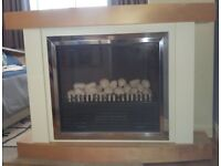 Wall mounted electric fire suite