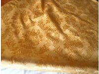 Gold jaquared fabric