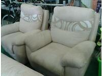 3 seater settee and x2 chairs
