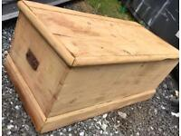 An original Victorian solid wooden chest/trunk/blanket box*stripped back to wood