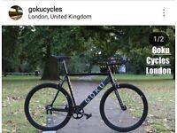 SALE brand new single speed track bike fixie fixed gear bicycle free to customise