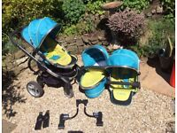 iCandy Peach 2 Blossom 2-seater or 1-seater buggy in good condition with lots of accessories