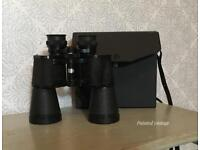 Vintage pair of binoculars with case,mark scheffel 20x50 extra wide angle binoculars