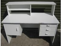 WHITE OFFICE COMPUTER DESK TABLE WORK STATION SUIT STUDENT etc