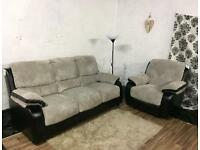 New jumbo cord 3 seater+Recliner chair**Free delivery**