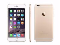 IMMACULATE CONDITION GOLD IPHONE 6 PLUS SCRATCH-LESS AND PERFECT WORKING ORDER - £375.00