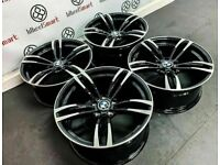 """BRAND NEW 18"""" 19"""" 20"""" BMW M4 STYLE ALLOY WHEELS *AVAILABLE WITH TYRES* -BLACK / DIAMOND CUT FINISH"""
