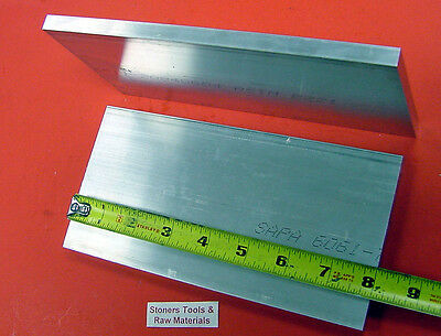 2 Pieces 38 X 4 Aluminum 6061 Flat Bar 8 Long T6511 .375 Plate Mill Stock