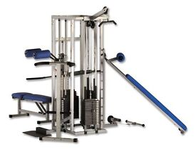 Powersport 5 Station Multi Gym - Commercial Weights Machine Pulley System