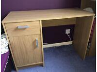 Oak Effect Desk/Dressing Table - Excellent Condition!!!